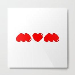 Mum/Mom/Wow (Lipstick Red) Metal Print