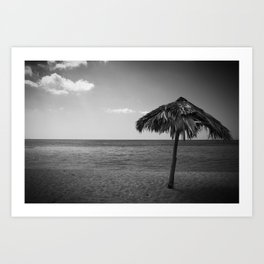 Caribean beach b&w Art Print