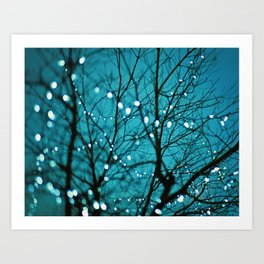 Tree with lights photo. Wonder Art Print