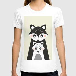 Scandinavian Mother and baby Fox T-shirt