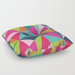 Geometric Triangle Pattern  - Spring Color Palette - Floor Pillow
