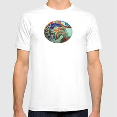 my first free standing fruit 2 MEDIUM Mens Fitted Tee White