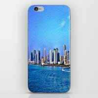 new york skyline iPhone & iPod Skins featuring New York  Skyline   by Judy Palkimas