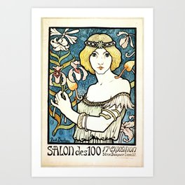 Paul Berthon Salon Des Cent Vintage Art Nouveau Art Print