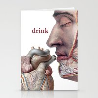 drink Stationery Cards featuring Drink! by Tintorera