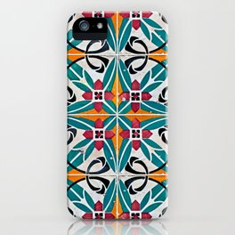 Seamless tile pattern iPhone Case