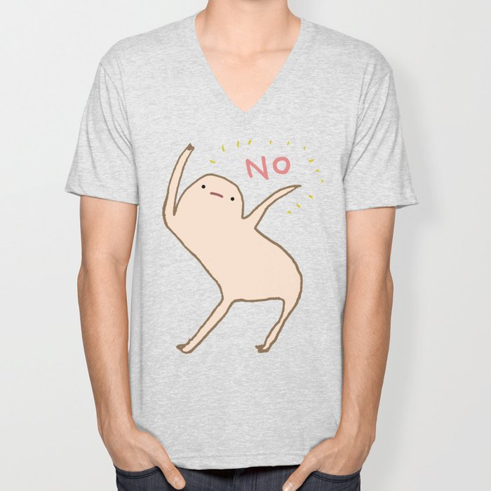 Honest Blob Says No Unisex V-Neck