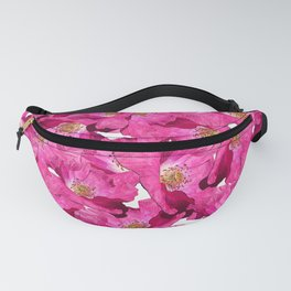 Floral poppies pink pattern. Fanny Pack