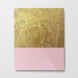 Blush liquid gold Metal Print