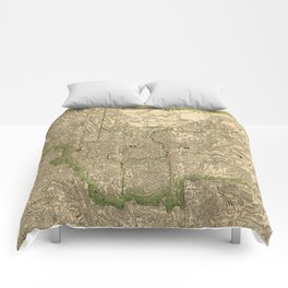 Vintage Map of Montana (1881) Comforters