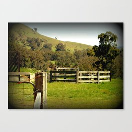 Cattle Yards Canvas Print