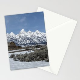 John Moulton Barn and the Grand Tetons Stationery Cards