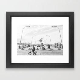 69th Street Pier Framed Art Print