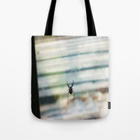 spider Tote Bags featuring SPIDER by sincerelykarissa