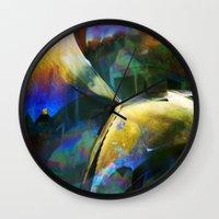 bubble Wall Clocks featuring Bubble by Lia Bernini