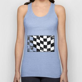 Grunged Chequered Flag Unisex Tank Top