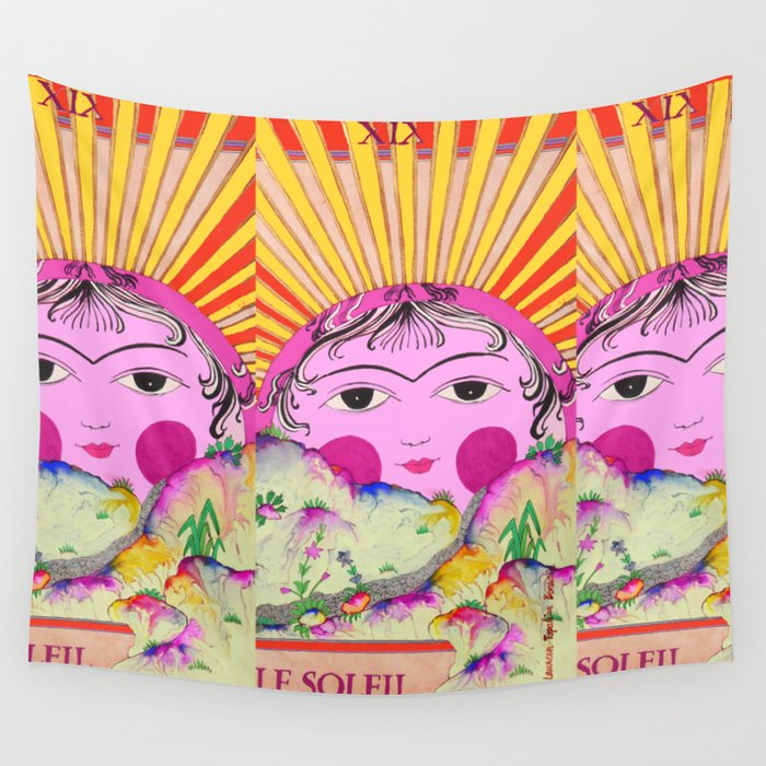 Tarot card-The Sun-Le soleil Wall Tapestry