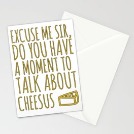 Funny Jesus Sarcasm Sarcastic Cheese Lover Gift Stationery Cards