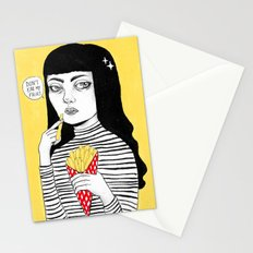 Don't eat my fries Stationery Cards