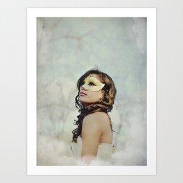 Masquerade in the Clouds Art Print
