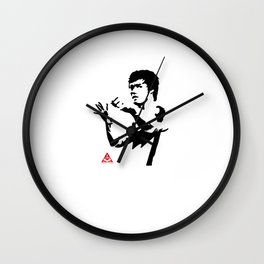 Bruce Action Punch Wall Clock