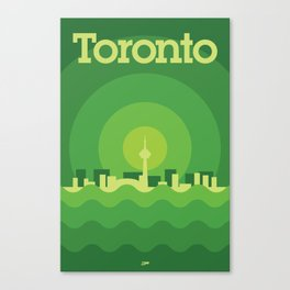 Toronto Minimalism Poster - Spring Green Canvas Print