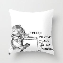 Hug the mug Throw Pillow