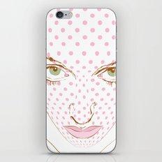Pop art face iPhone & iPod Skin