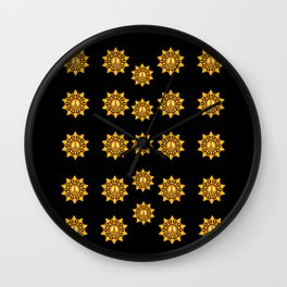 Star of peace in the dark Wall Clock