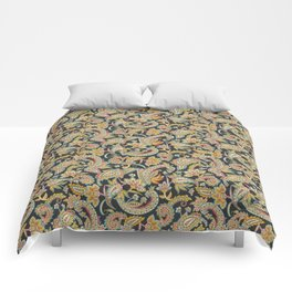 Nomad Paisley - Charcoal Comforters