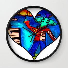 Jazz Elephant of Royal Street Wall Clock