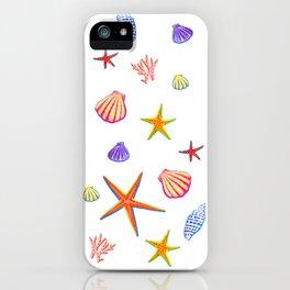 Sea Shells and Sea Stars iPhone Case