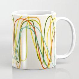 Abstract Minimal Retro Lines Coffee Mug