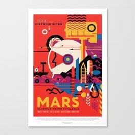 Retro Mars Vacation Ad from NASA Canvas Print