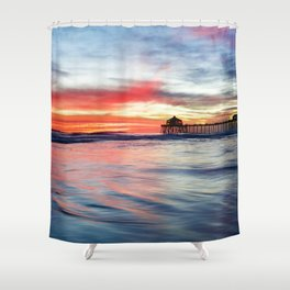 HB Sunset 1-30-18 Shower Curtain