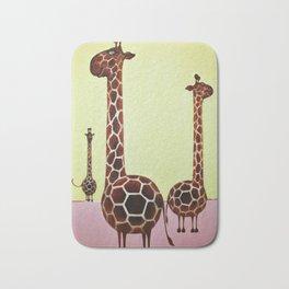 Cheerful Giraffes Bath Mat