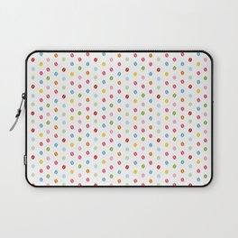 Rainbow coffee beans white pattern, the best coffee espresso inspirational life quotes Laptop Sleeve