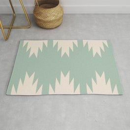 Geometric Southwestern Minimalism - Sage Green Rug