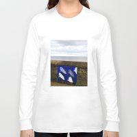sharks Long Sleeve T-shirts featuring sharks by Dasha&Sasha