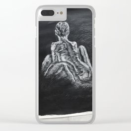 Black and White Nude Clear iPhone Case