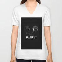 hamlet V-neck T-shirts featuring Hamlet: Prince of Mars by Caitlin Taduran