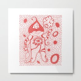 Onion Man Metal Print