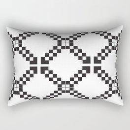Checkerboard X Rectangular Pillow