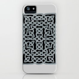 Black and Gray Celtic Interlace iPhone Case