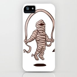 mummy jumping rope iPhone Case
