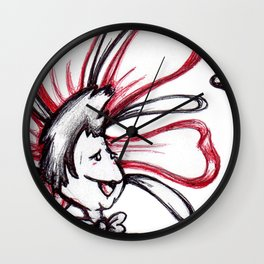 """It's You! I Love You!!"" Flowerkid Wall Clock"