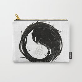 Yin Yang Crow Carry-All Pouch