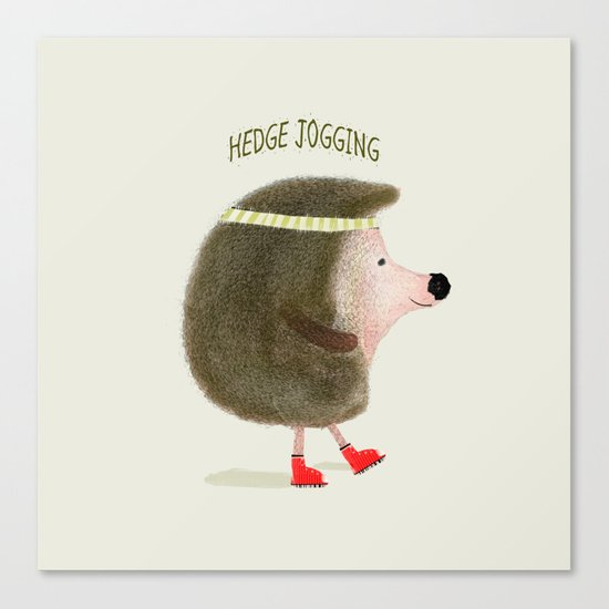 hedge jogging Canvas Print