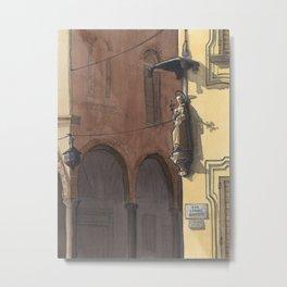 VIA CESARE BATTISTI, Bologna Travel Sketch by Frank-Joseph Metal Print