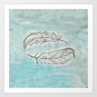Feathers and memories Art Print